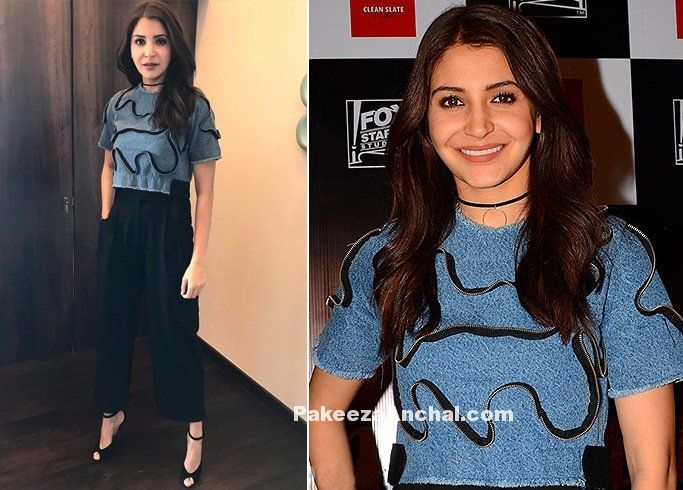 Anushka Sharma in Crop Top & High waist Bodice Trouser