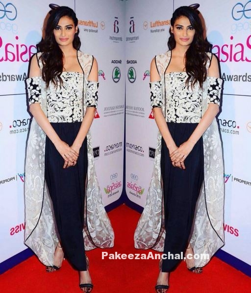 Athiya Shetty in Jade by Monica and Karishma outfit-PakeezaAnchal.com