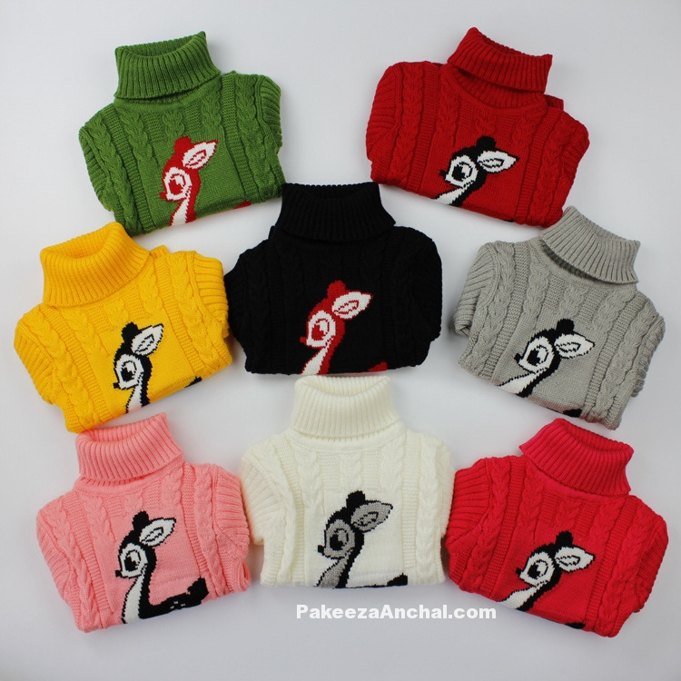 Baby Woolen Sweaters Collection, Kids Sweaters Designs and Colors for Winter Season-PakeezaAnchal.com