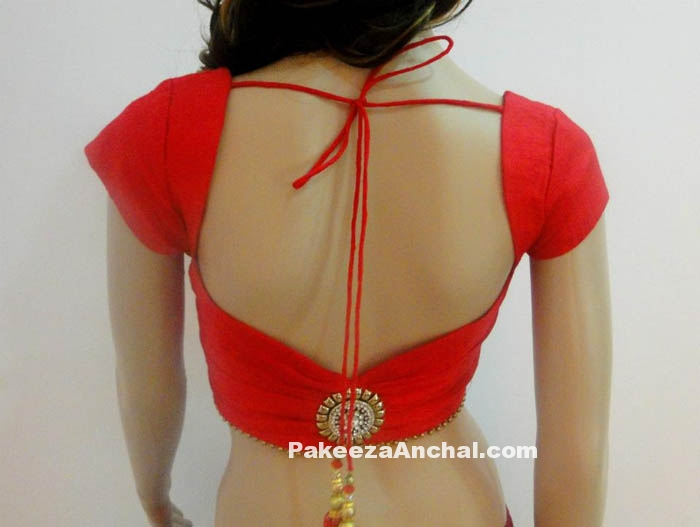 Best Backless Design Fashion Trends with Designer Saree for Women PakeezaAnchal.com