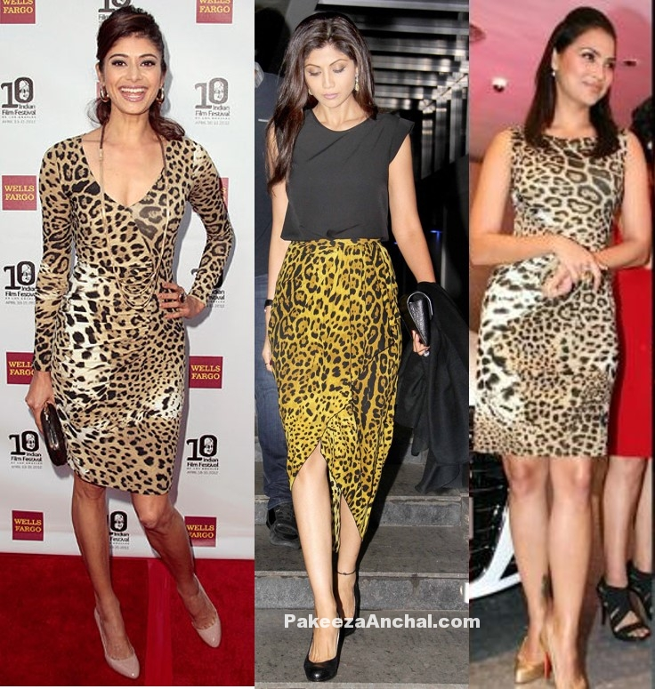 Bollywood Long Legged Actress in Animal Leopard Print Skirt