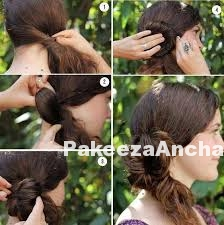 Chic-Side Bun Hairstyle-PakeezaAnchal.com