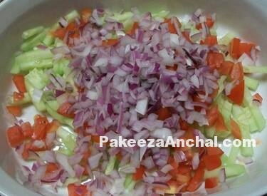 Creamy Raita for Sliced Salad - Hyderabadi Recipe-PakeezaAnchal.com