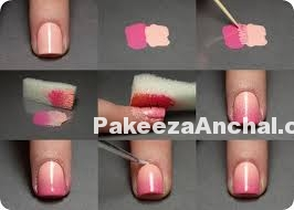 DIY Nail Art - Beach and Ombre Nail Art Designs for Indian Girls-PakeezaAnchal.com