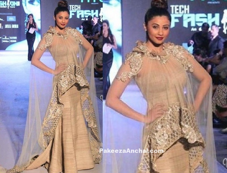Daisy Shah in a body hugging Gown by Archana Kochhar-PakeezaAnchal.com