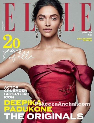 Deepika Padukone features on Elle December 2016 Issue