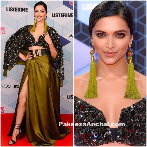 Deepika Padukone in high Slit Gown by Monisha Jaising