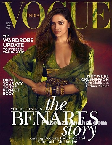 Deepika Padukone wrapped in Sabyasachi for Vogue Magazine