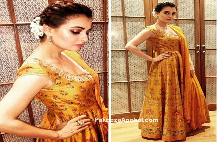 Dia Mirza in Heart Stealing Ethnic Floor Length Anarkali
