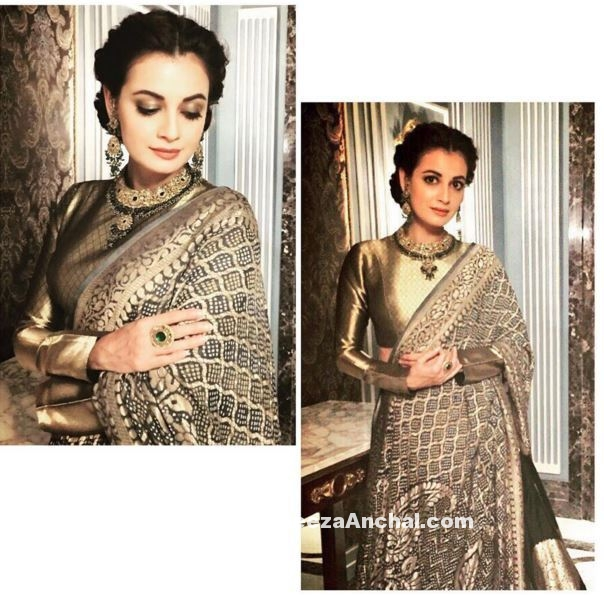 Dia Mirza in Manish Malhotra Regal Threads Collection 2016-17
