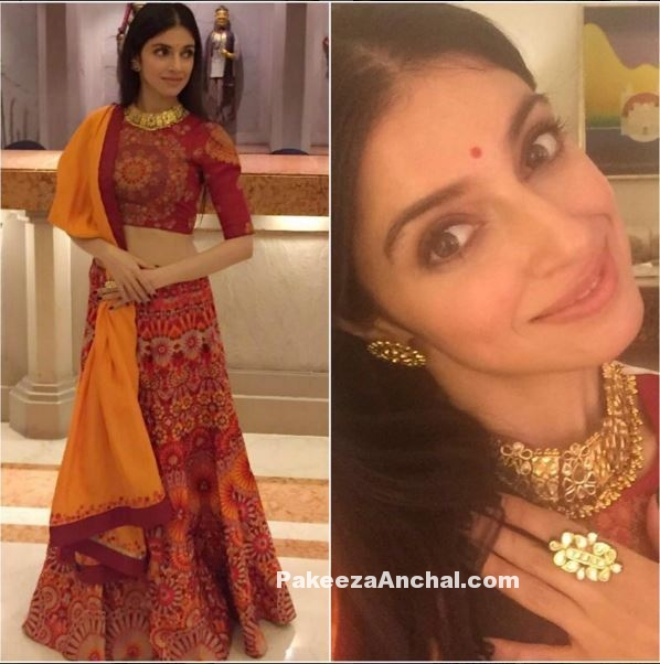 Divya Khosla Kuamr in Classic Rajasthani Lehenga Choli Dress