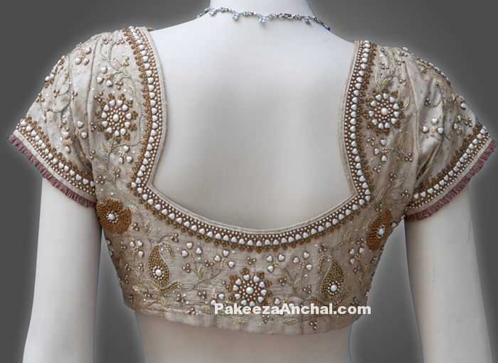 Fashion & Stylish Designer Blouse Back Designs for Young Women or Girls-PakeezaAnchal.com