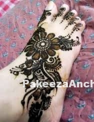 Feet Mehandi Designs