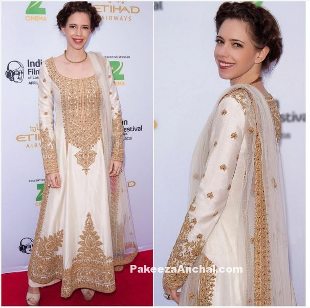 Kalki Koelchin in Long Straight Suit by Rimple and Harpreet Narula