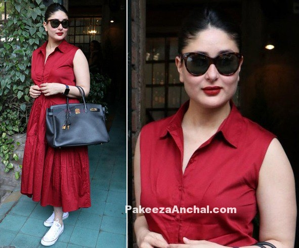 Kareena Kappor in Collared Midi Dress by Ankita Choksey-PakeezaAnchal.com
