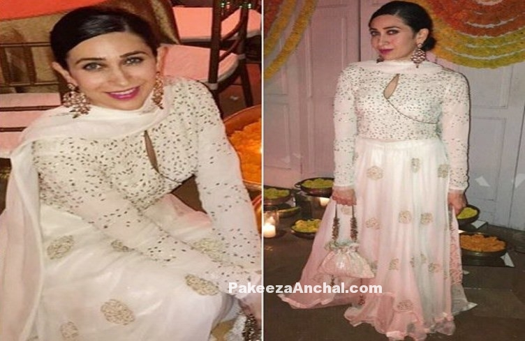 Karishma Kapoor dressed up for Diwali by Meera Muzzaffar Ali