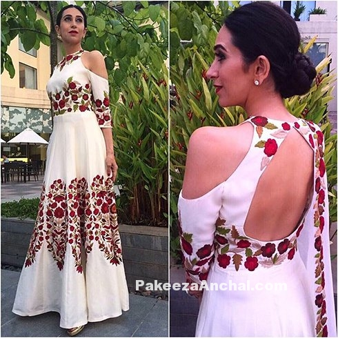 Karishma Kapoor in Manish Malhotra's Floral Design Backless Gown