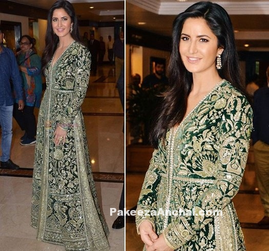 Katrina Kaif dazzling in Embroidered Sabyasachi Outfit