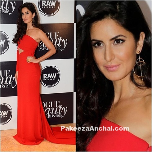 Katrina Kaif in Cut-out Gown by Romona Keveza-PakeezaAnchal.com