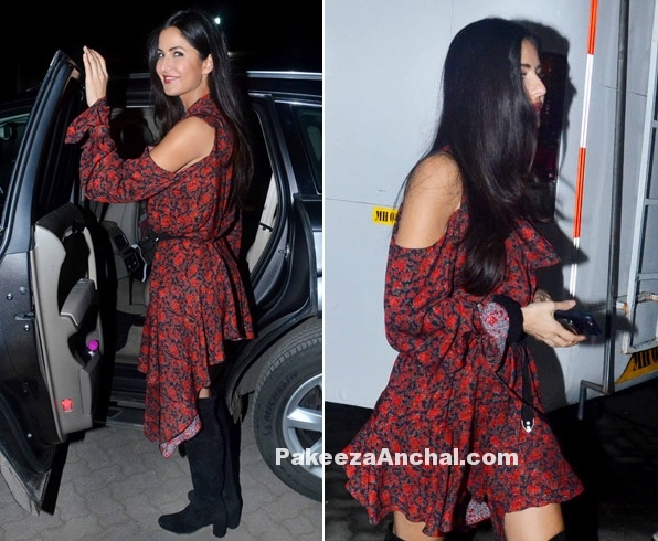 Katrina Kaif in flirty asymmetric dress by Magda Butrym