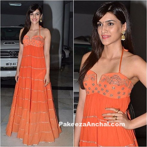Kriti Sanon in thin strap Gown by Sukriti and Akriti