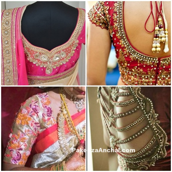 Latest Blouse Designs for Weddings 2016-17, Saree Blouse Designs-PakeezaAnchal.com