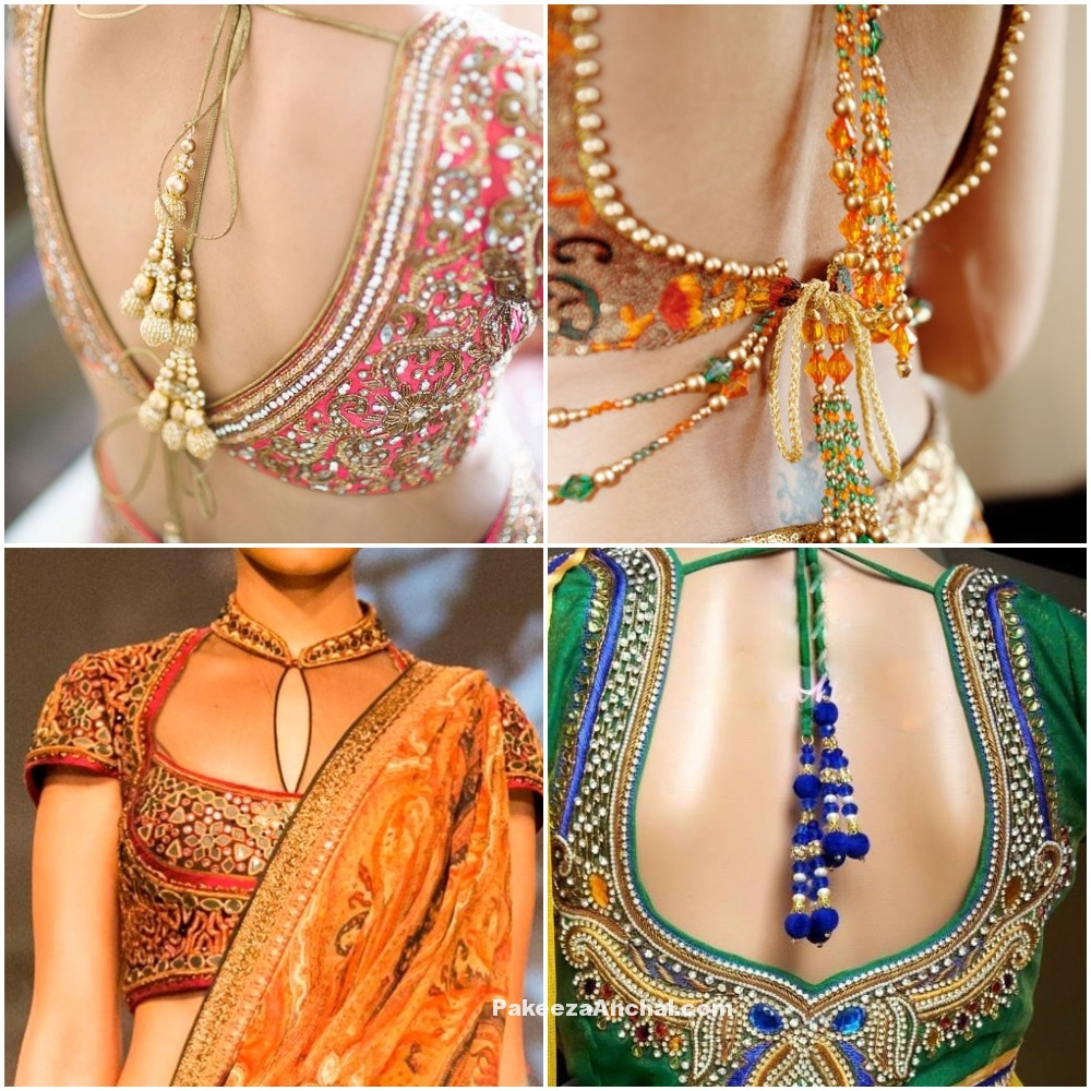Latest Blouse Designs for Weddings 2016-17, Saree Blouse Designs PakeezaAnchal.com