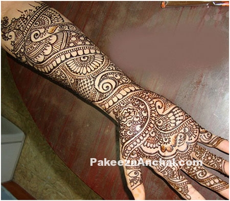 Mehendi Designs for Bride, Top Bridal Mehendi Design Patterns of Brides-1-PakeezaAnchal.com