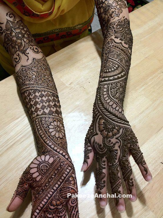 Mehendi Designs for Bride, Top Bridal Mehendi Design Patterns of Brides-2-PakeezaAnchal.com