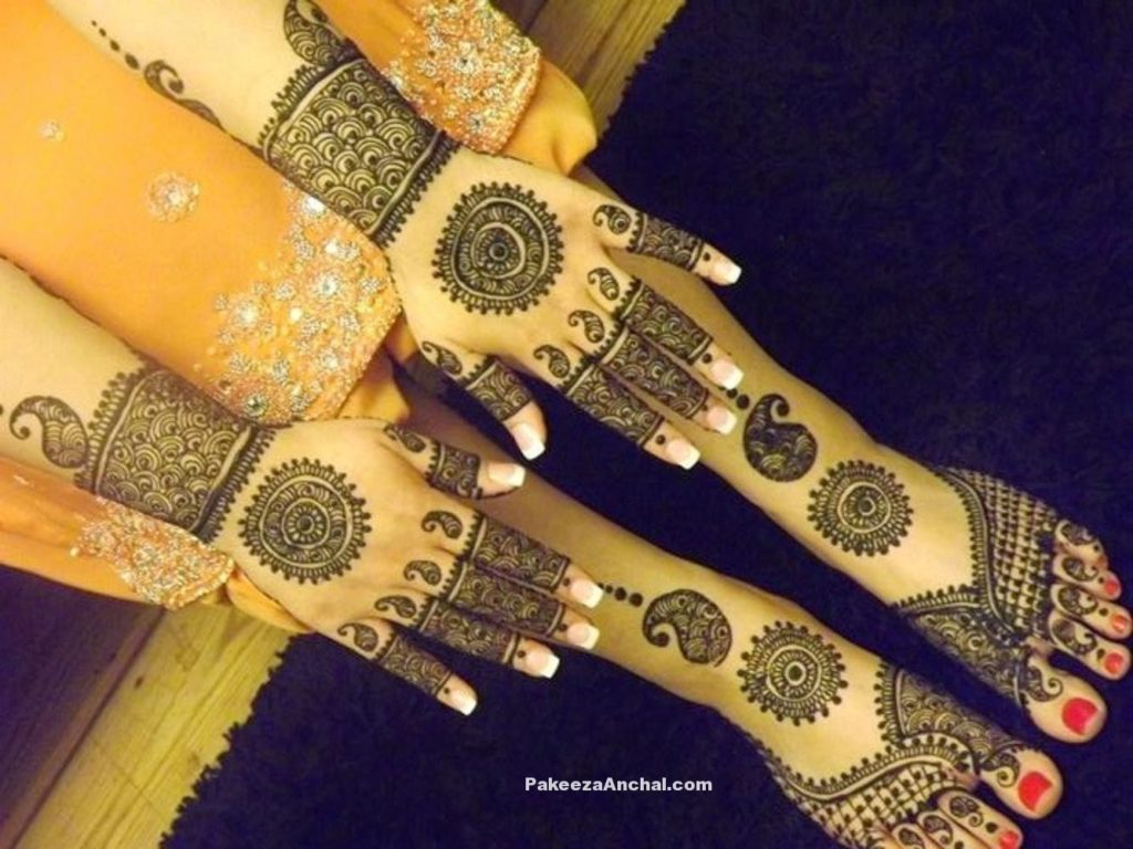 Mehendi Designs for Bride, Top Bridal Mehendi Design Patterns of Brides-5-PakeezaAnchal.com