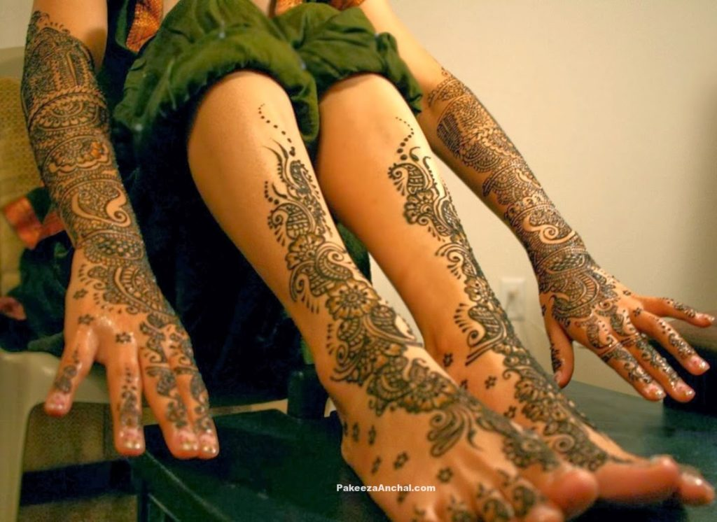 Mehendi Designs for Bride, Top Bridal Mehendi Design Patterns of Brides-6-PakeezaAnchal.com
