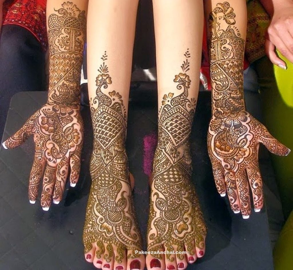 Mehendi Designs for Bride, Top Bridal Mehendi Design Patterns of Brides-7-PakeezaAnchal.com