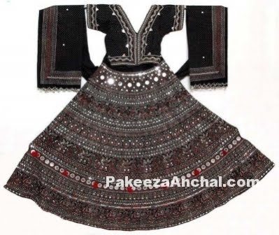 Mirror work dresses for Navratri and Dandiya, Lehenga Choli for Dandiya and Garba Nights PakeezaAnchal.com