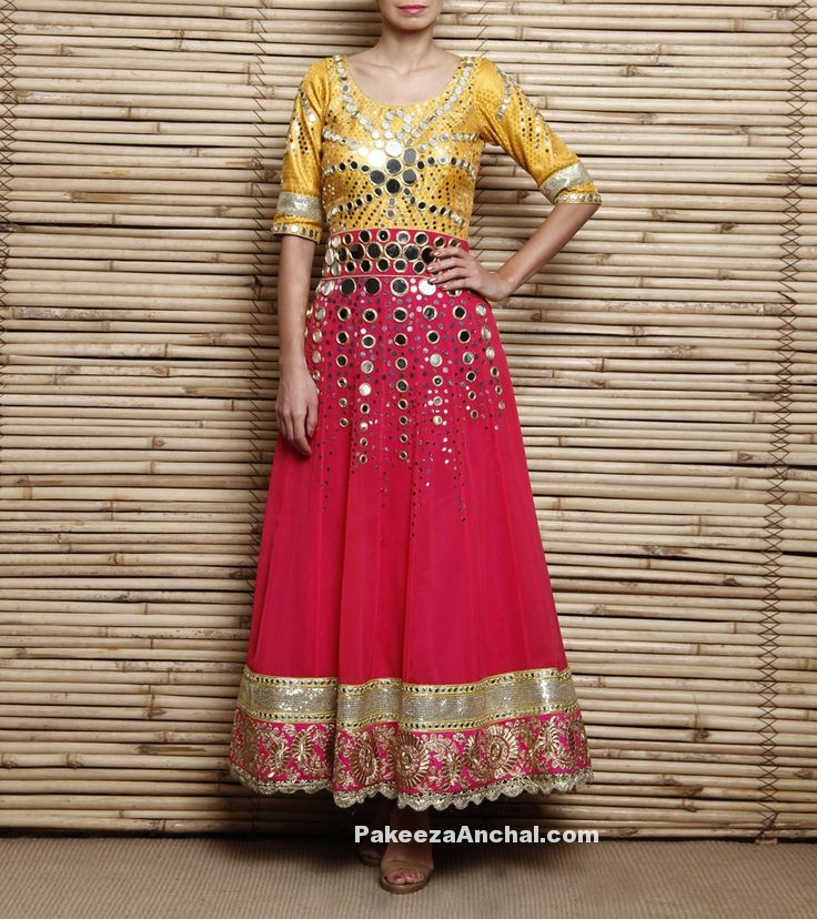 Mirror work dresses for Navratri and Dandiya, Lehenga Choli for Dandiya and Garba Nights, PakeezaAnchal.com