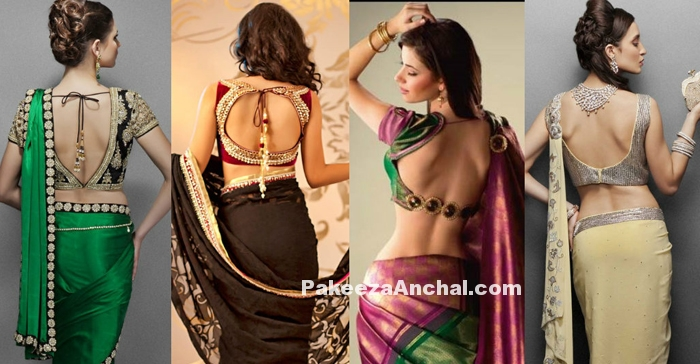 Modern backless Blouse Designs to show your bare Back-PakeezaAnchal.com
