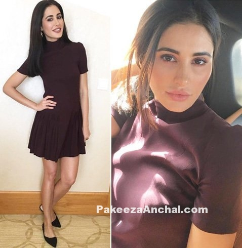 Nargis Fakhri in one Piece Short Dress by Dior for Azhar Movie-PakeezaAnchal.com