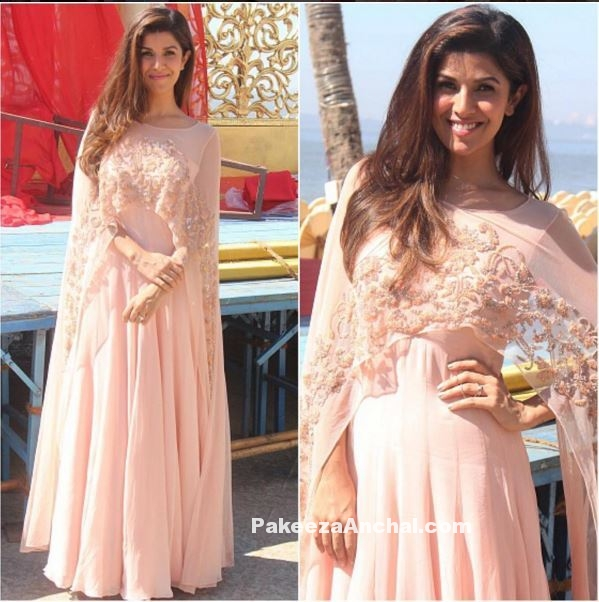 Nimrat Kaur in Malasa Designer Pink dress at Airlift success meet