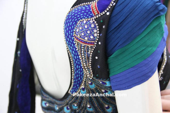 Party Wear Blouse Sleeve Designs Short Sleeved Latest Blouse Styles PakeezaAnchal.com