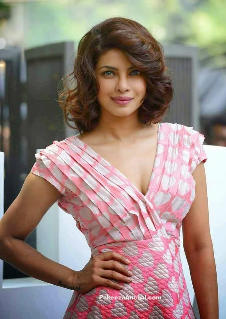 Priyanka Chopra in Pallavi Singhee's Pink heart Printed Skirt for Dil Dhadakne Do Music Launch PakeezaAnchal.com