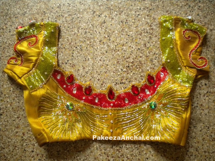 Rajasthani Style Short Blouse Designs with Mirror Work for Indian Women PakeezaAnchal.com