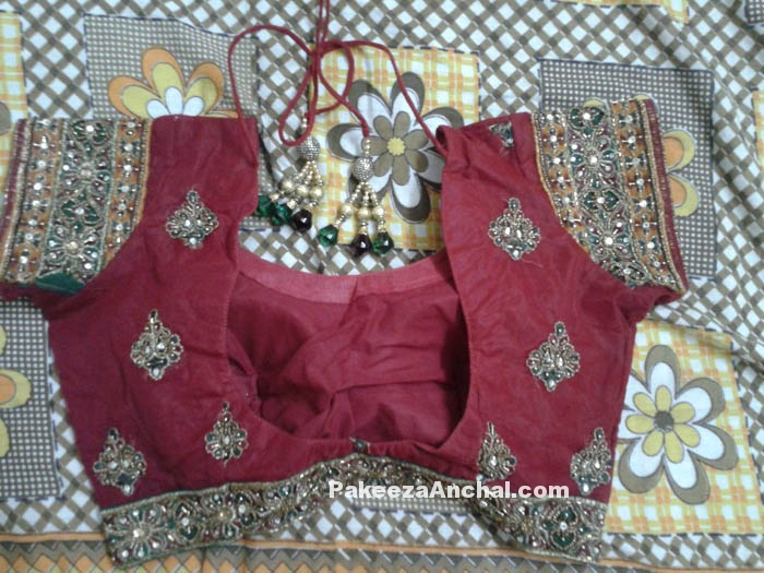 Rajasthani Style Short Blouse Designs with Mirror Work for Indian Women-PakeezaAnchal.com