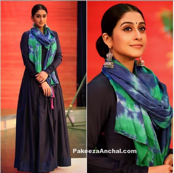 Regina Cassandra in Mint Blush Designs & Earrings by ZeroKaata-PakeezaAnchal.com
