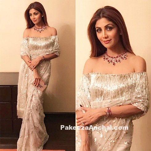 Shilpa Shetty in Manish Malhotra's Off Shoulder-PakeezaAnchal.com