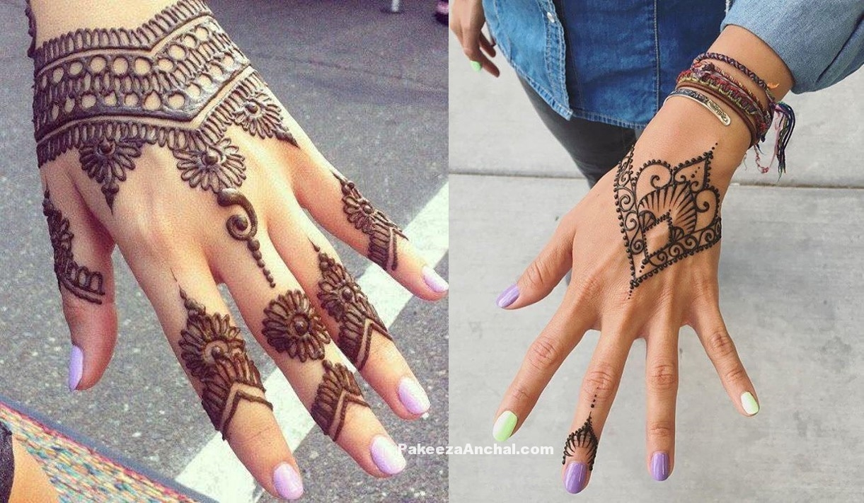 Simple yet Casual Mehendi Designs for 2017-PakeezaAnchal.com