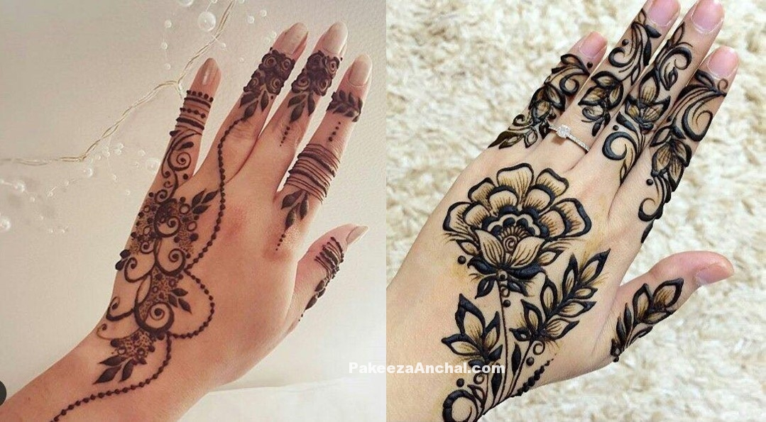 Simple yet elegent Mehendi Designs for 2017-PakeezaAnchal.com