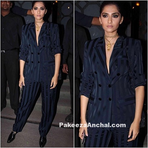 Sonam Kapoor dressed up in Yves Saint Laurent-PakeezaAnchal.com