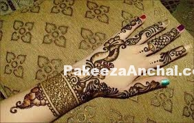 Stylish Arabic Mehndi Designs 2015, Latest Arabic Mehendi Styles for Women-4-PakeezaAnchal.com