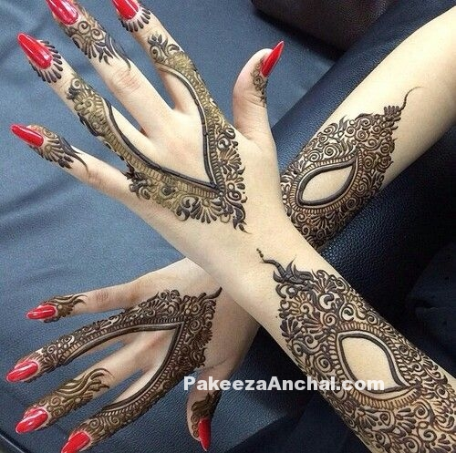 Stylish Arabic Mehndi Designs 2015, Latest Arabic Mehendi Styles for Women-PakeezaAnchal.com