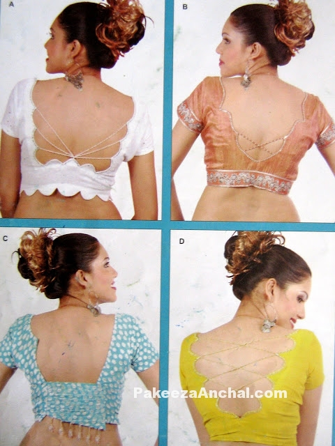 Stylish Blouse Collection for Women, Backless Blouse Designs & patterns-PakeezaAnchal.com