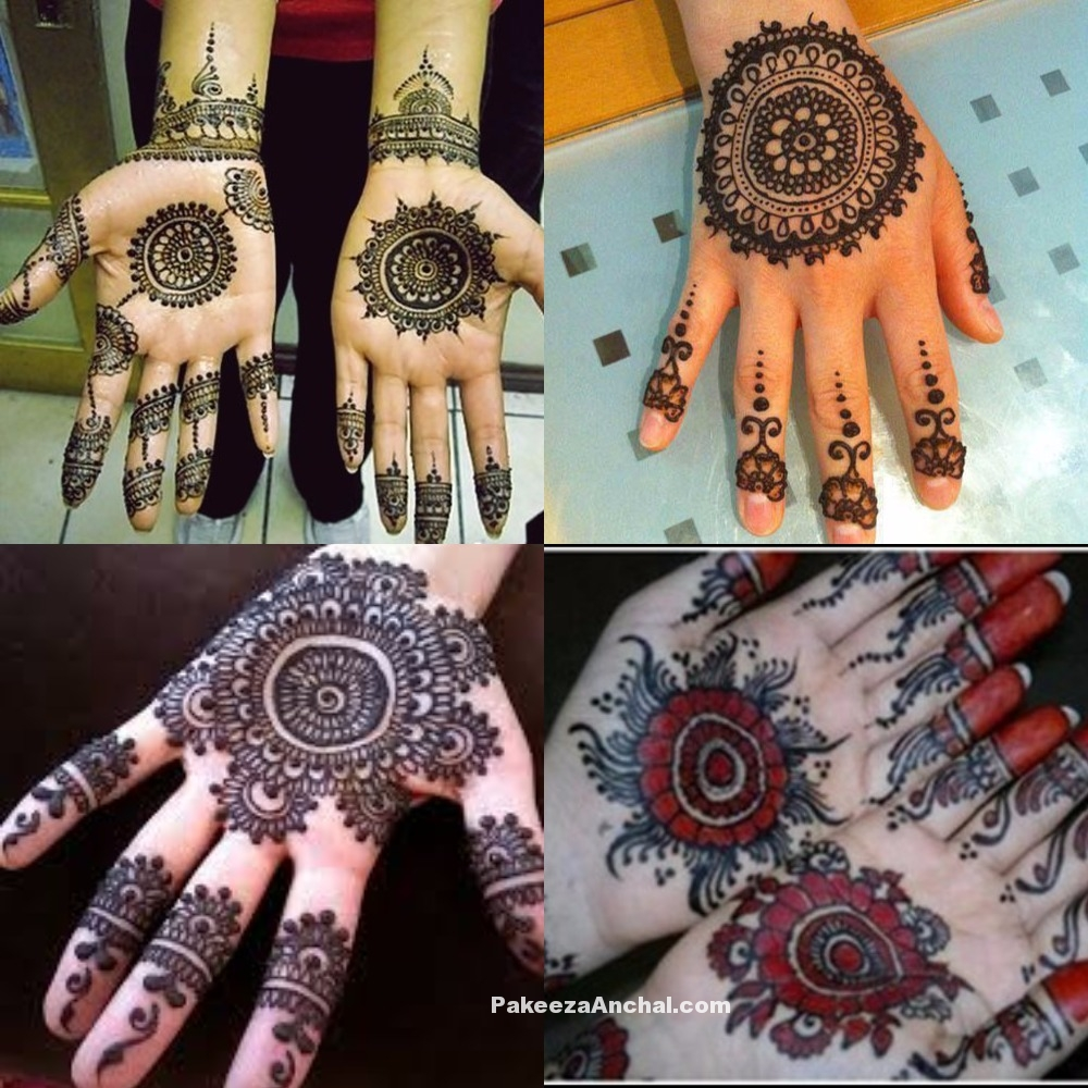 Stylish Round Mehandi Designs for Hands, Circle Mehendi Design Pictures-PakeezaAnchal.com